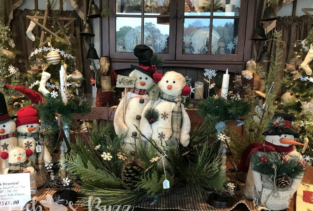Old Allegheny Christmas Shop snowmen table