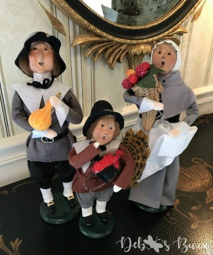 Byers pilgrims Thanksgiving figures