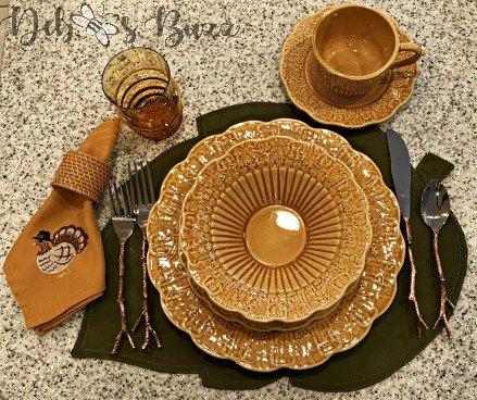 Harvest Thanksgiving tableware setting