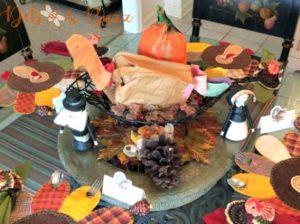 KIds Thanksgiving Table Turkey