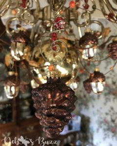 dining room chandelier pinecone hanging
