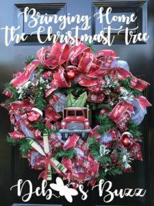 Bring-home-Christmas-tree-wreath-diy-mesh