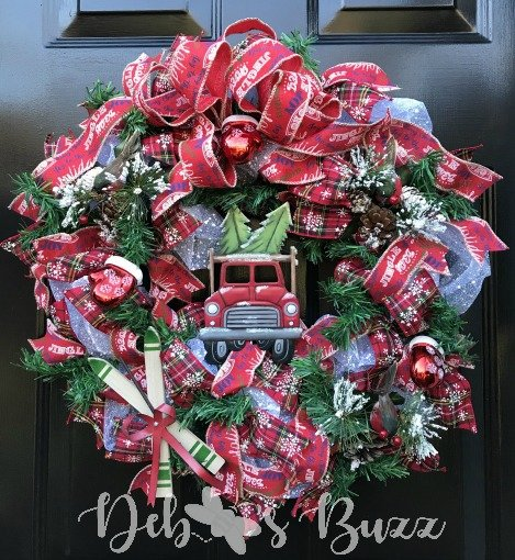 Christmas tree DIY wreath