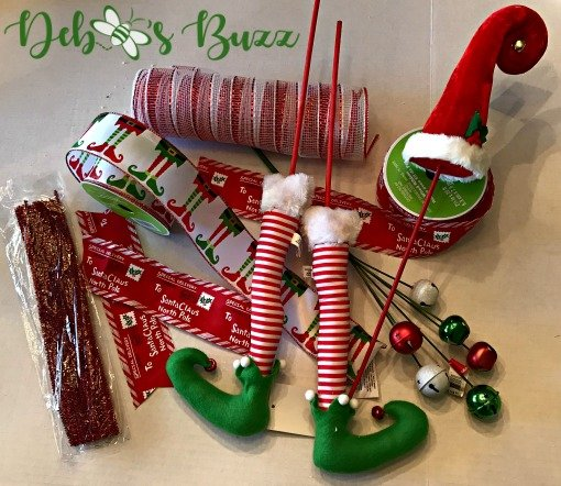 elf-Christmas-wreath-DIY-supplies