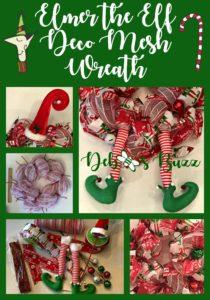 Elmer Elf Wreath Collage Pin
