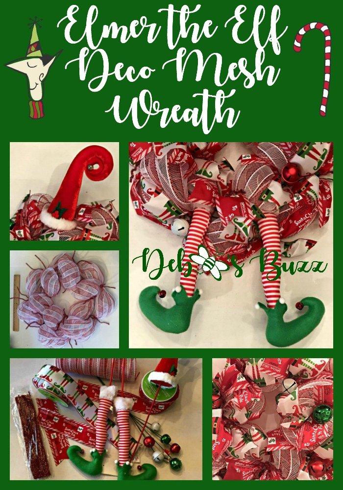 Elmer-elf-wreath-collage-pin-make-merry