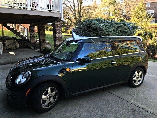 Mini Cooper Christmas Tree