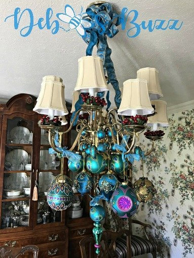 Peacock ornament chandelier day