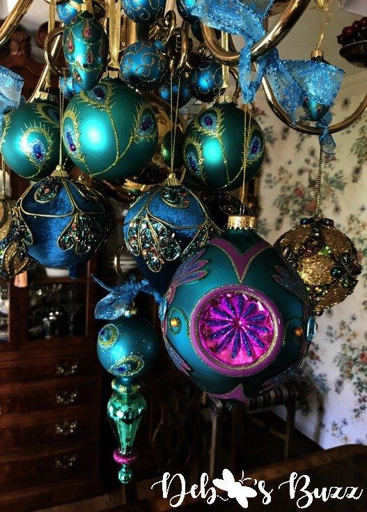 Peacock chandelier hanging ornaments