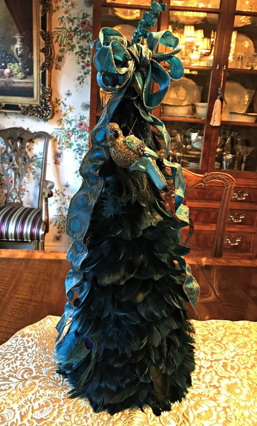 Peacock theme feather tree