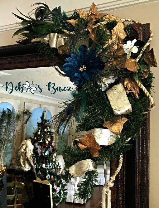 Peacock mirror decoration