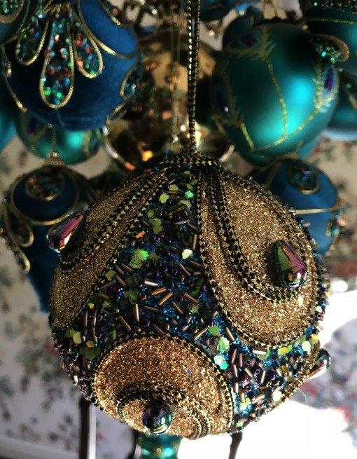 Peacock ornament beaded
