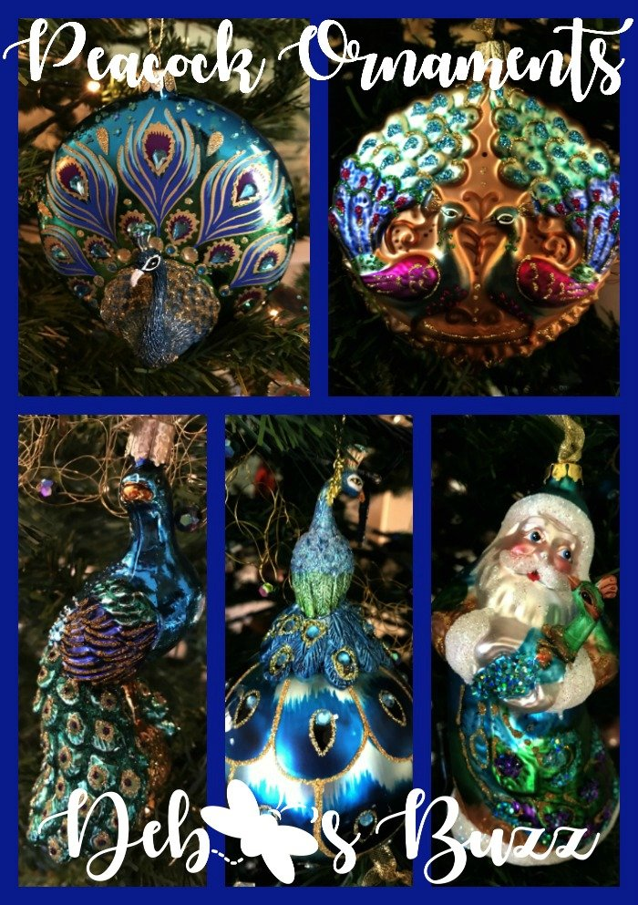 Peacock ornaments collage