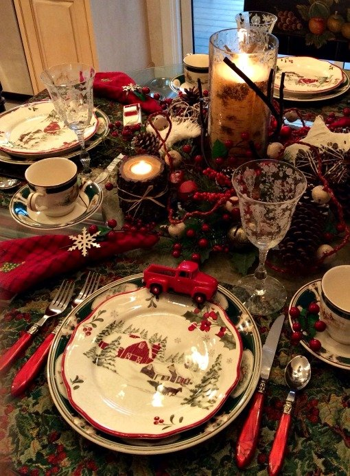 Red Barn tablescape two
