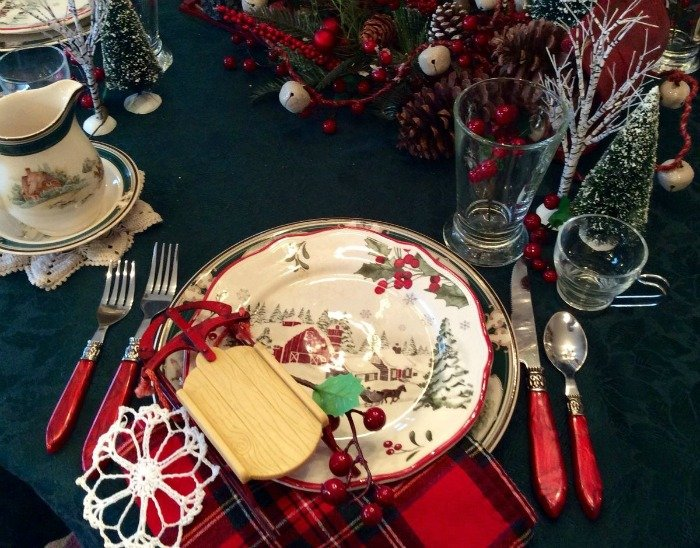 Sled table setting2