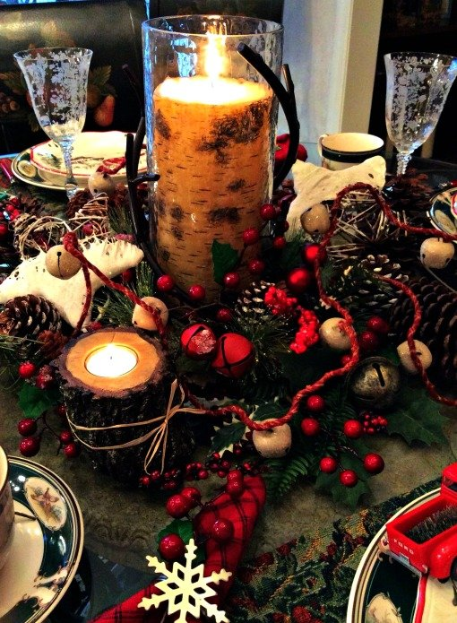 Woodland tablescape centerpiece