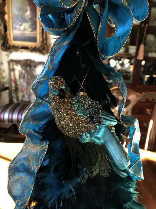 peacock parrot ornament