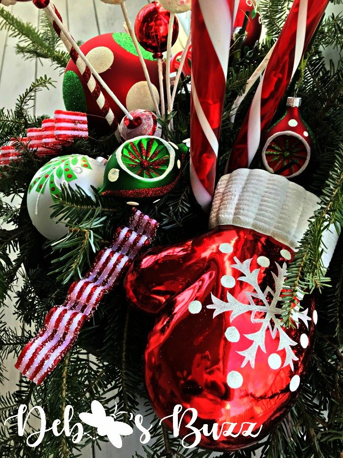 diy lighted candy cane christmas urns add whimsy debbee s buzz