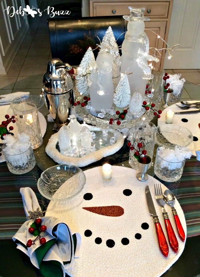 5 Snowman Centerpieces Decorate Winter Table Debbee S Buzz