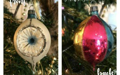 Decorate Tree with Vintage Christmas Treasures