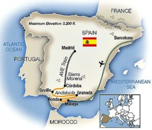 Tauck-Spain-tour-map