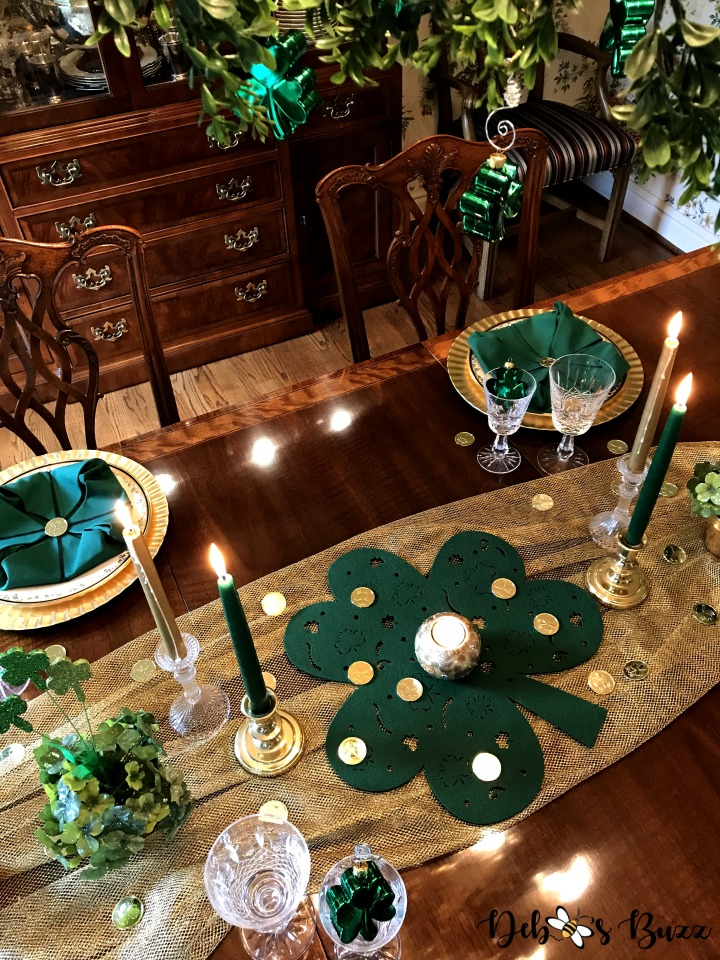 Elegant Easy Shamrock Tablescape For St Patrick S Day