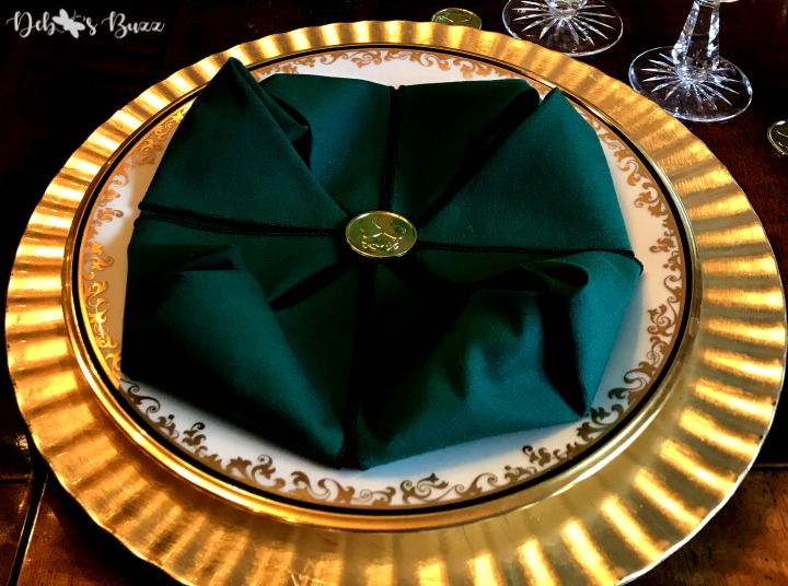Elegant, Easy Shamrock Tablescape for St. Patrick's Day