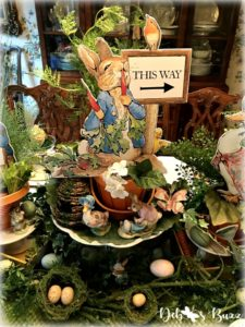 Beatrix-Potter-Easter-tablescape-centerpiece-peter-rabbit