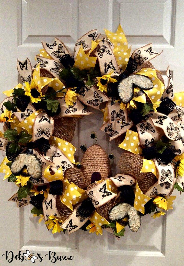 bee-wreath-diy-deco-mesh-hive