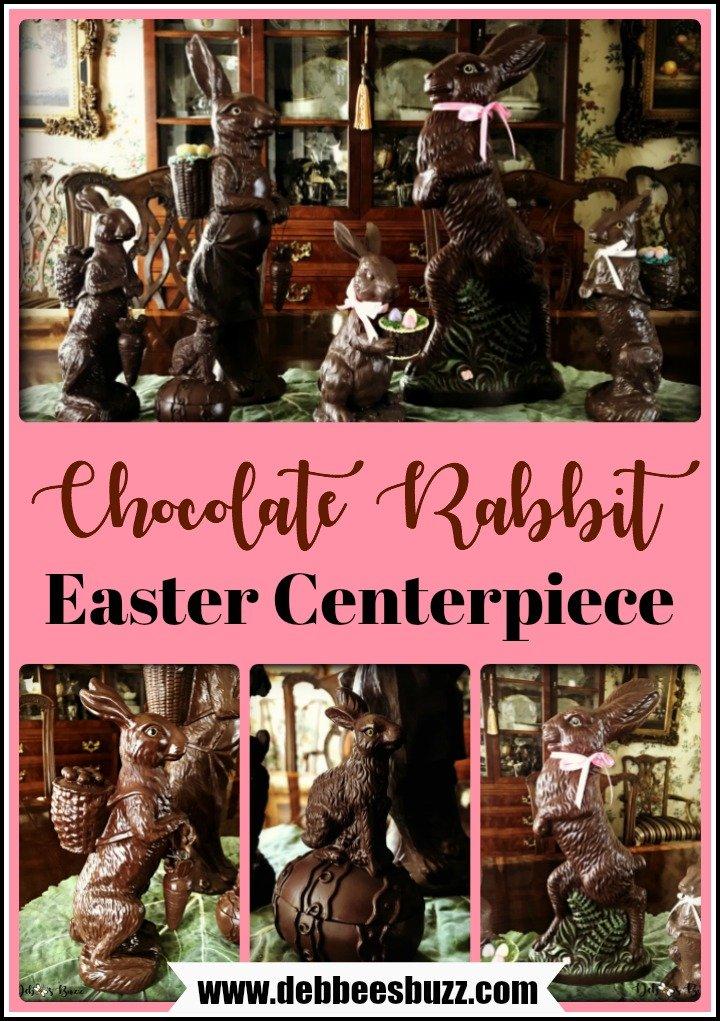 chocolate-rabbit-centerpiece-collage