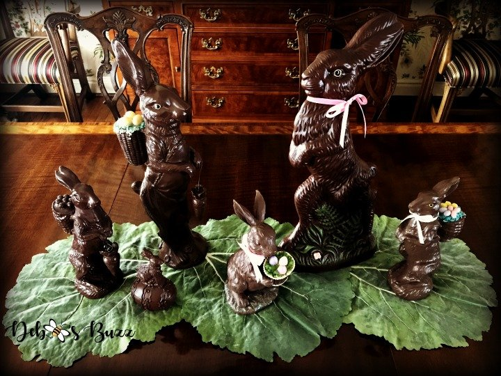 Chocolate Rabbit Centerpiece, Vignette for Easter Table