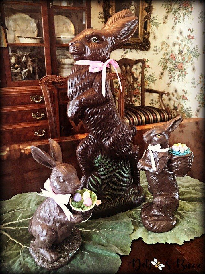 chocolate-rabbit-centerpiece-trio