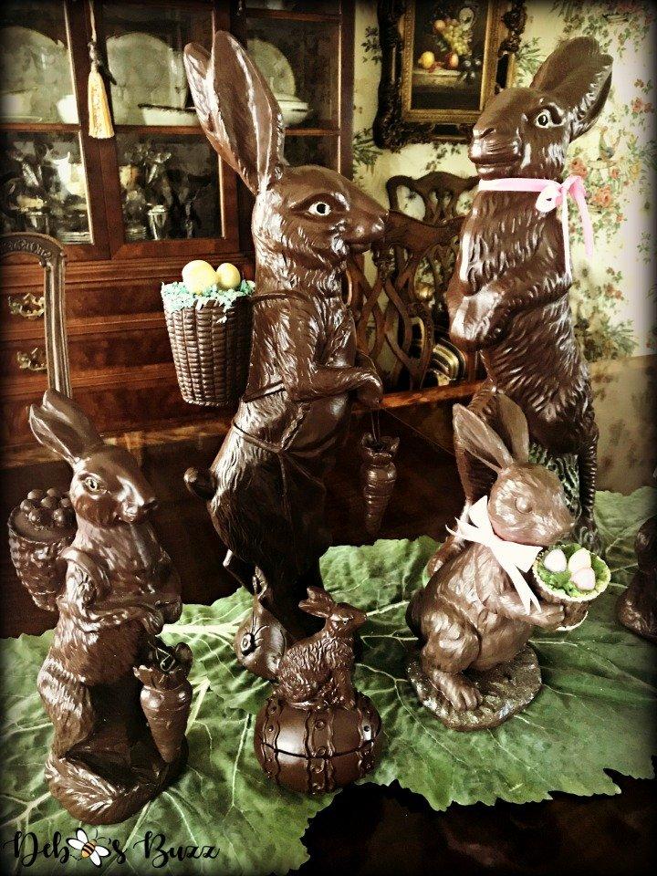 chocolate-rabbit-centerpiece-vignette