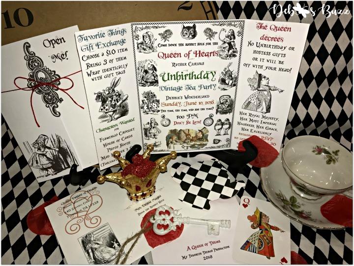 alice-in-wonderland-invitation-display