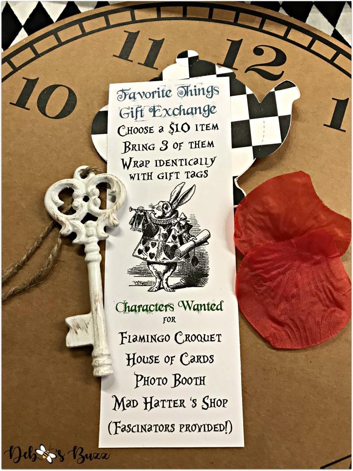 DIY Alice In Wonderland Invitation 4th My Favorite Things