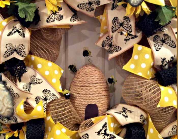 Bee Wreath and Skep Bee-autiful DIY Inspiration, Party Decorations