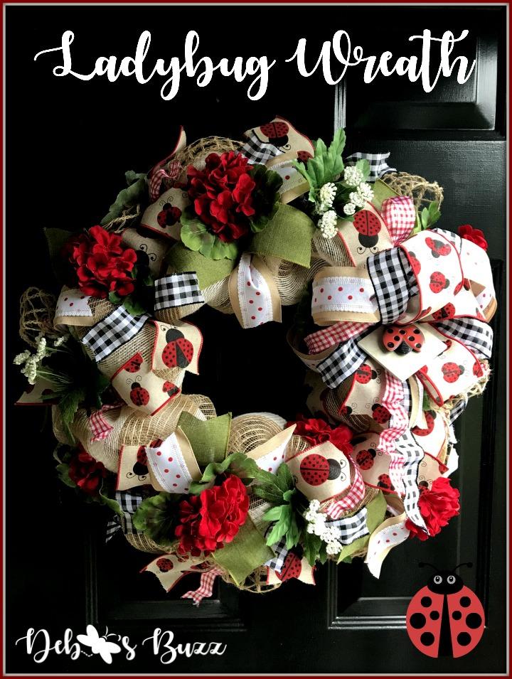 ladybug-wreath-gingham-pin