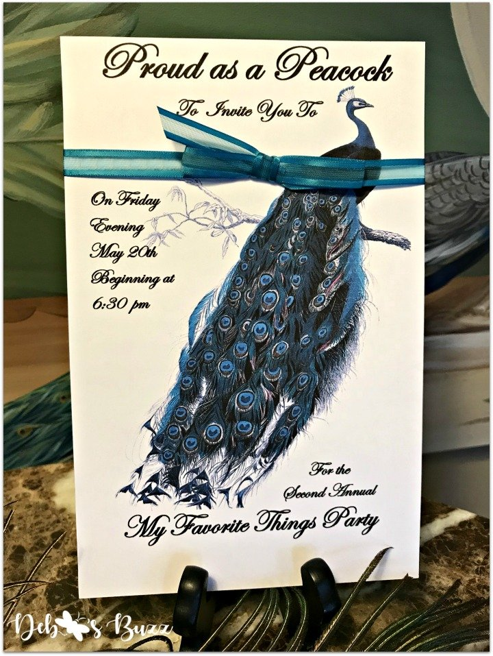 peacock-invitation-my-favorite-things-part-front