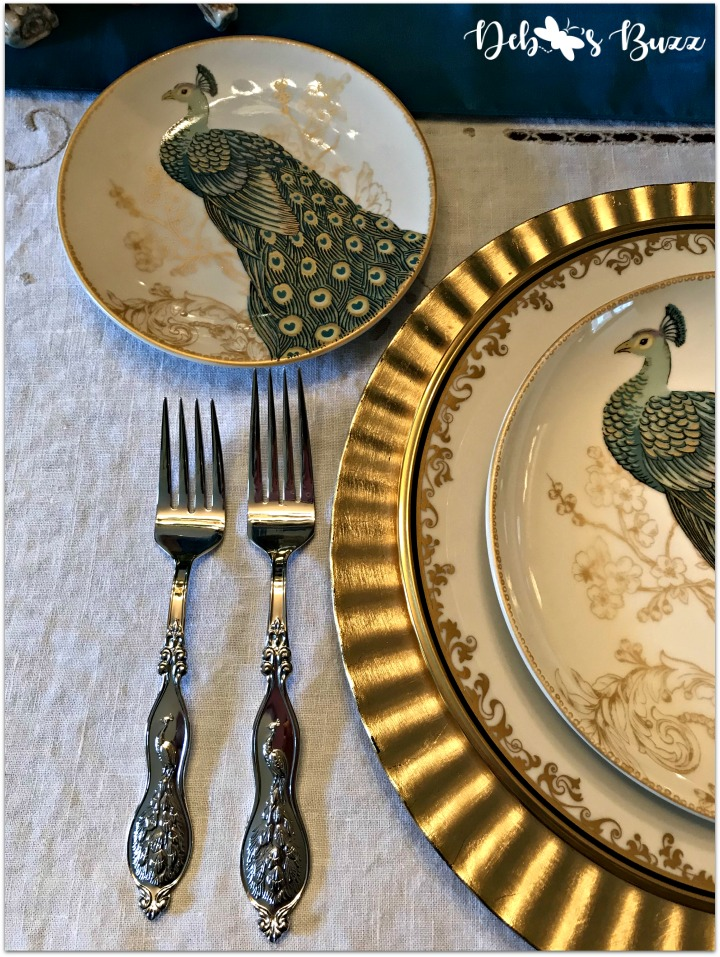 peacock-tablescape-forks