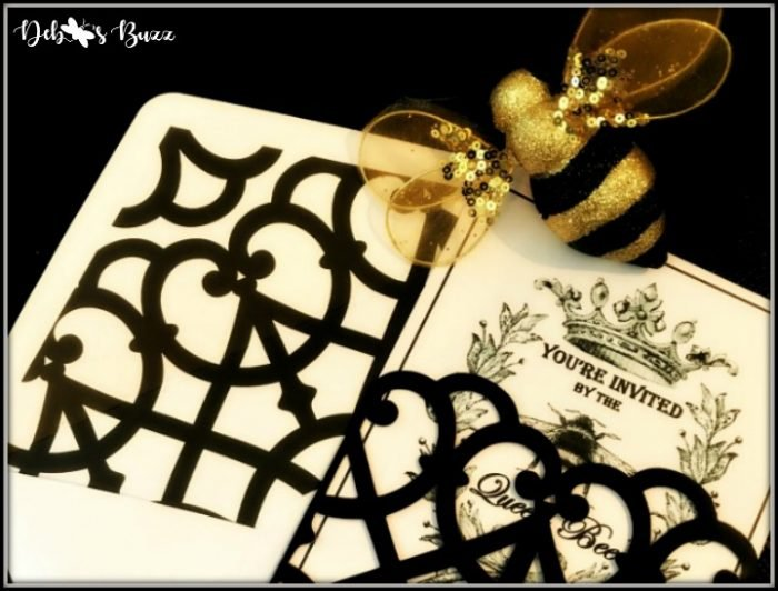Elegant French Queen Bee Invitation Made with Vintage Images