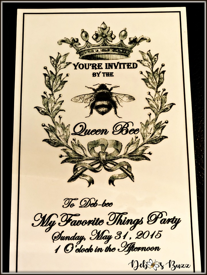 queen-bee-invitation-my-favorite-things-party-front