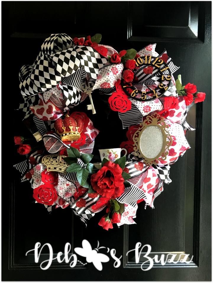 alice-in-wonderland-theme-wreath-full-view-black-door