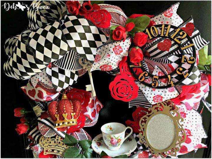 Fanciful Alice in Wonderland Theme Wreath