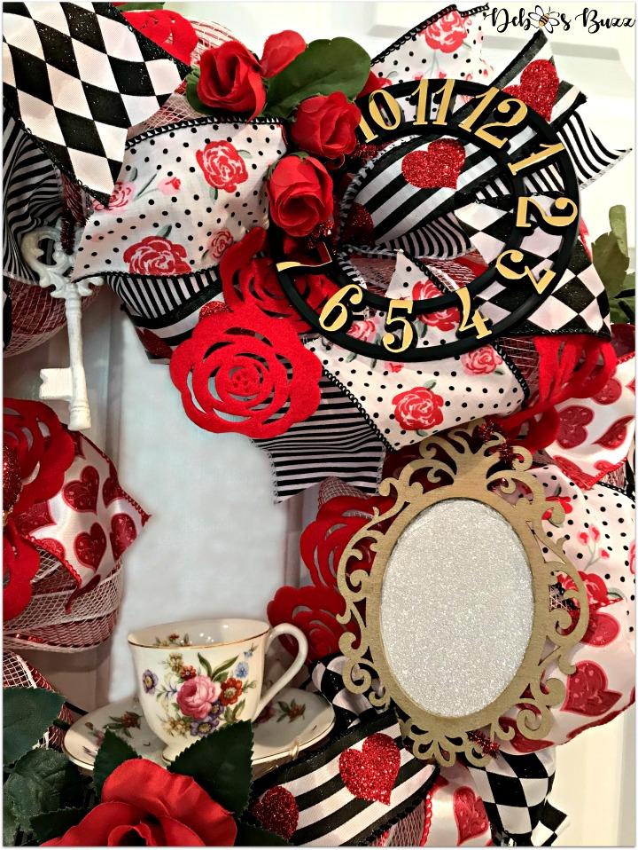 alice-in-wonderland-theme-wreath-tea-roses-side-view-white-door