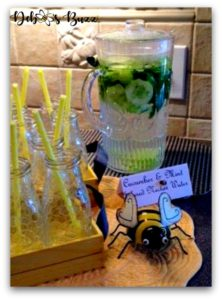 bee-theme-party-food-cucumber-water