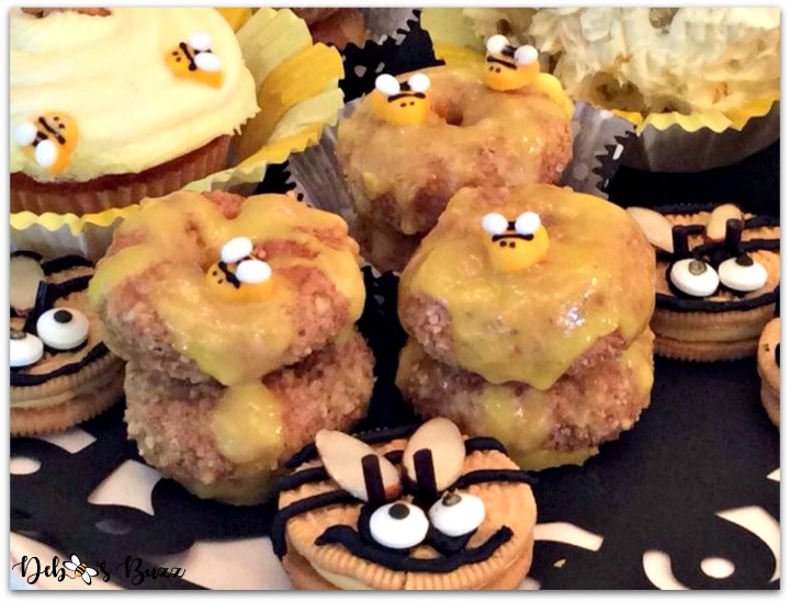 bee-theme-party-food-donut-hives
