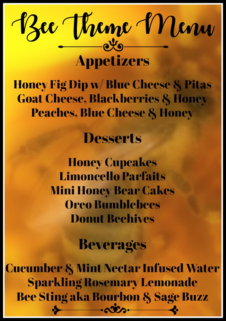 bee-theme-party-food-menu