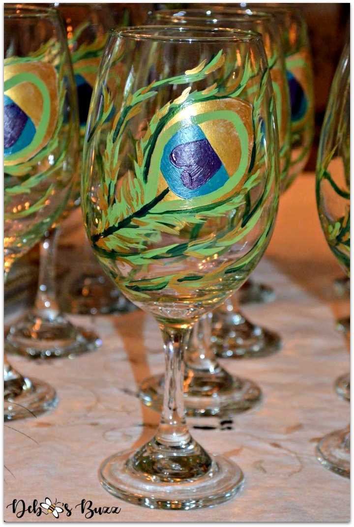 peacock-party-favors-gifts-peacock-feather-hand-painted-glass