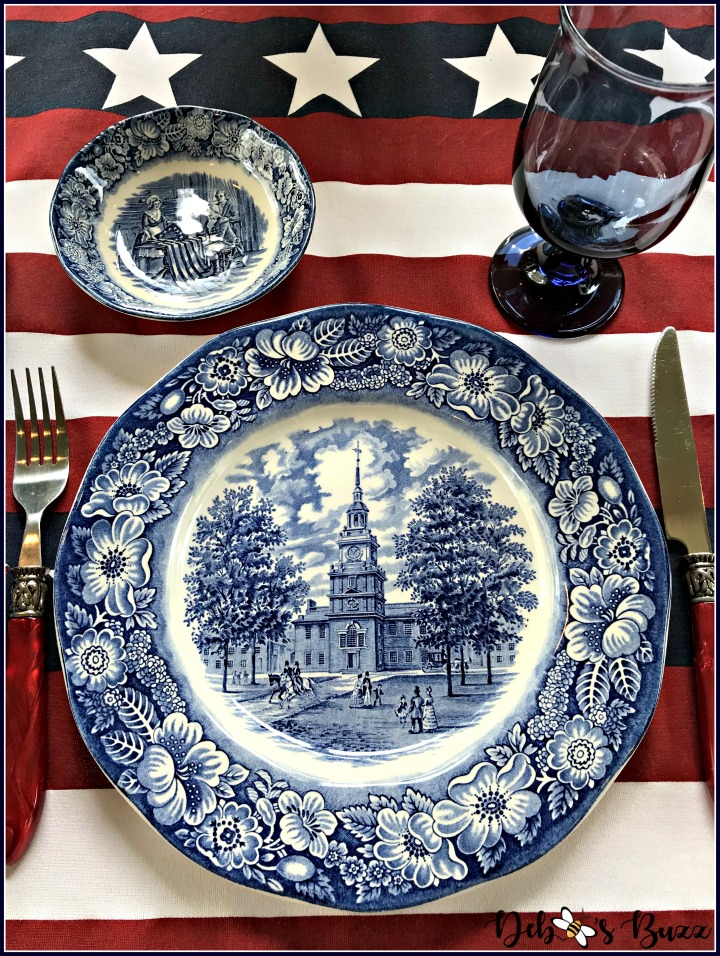 give-me-liberty-blue-tablescape-red-white-blue-tablescape-independence-hall-plate
