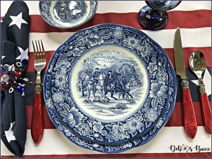 Give Me Liberty Blue Tablescape Celebrates July 4th